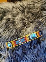 Hundehalsband mit Zierborte und Cabochon (HH25)