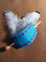 Haarschmuck, Haarspange mit Intarsien, Farbe Türkis (HS10)