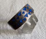 Ring 925 Sterling-Silber, Lapislazuli
