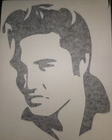 Elvis Presley in Schwarz  nach links