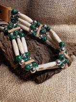 Choker, (Kropfband) mit Malachit-Perlen (CH 28)