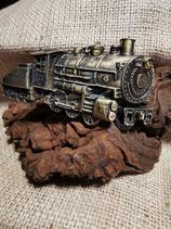 Buckle / Wechselschnalle, Dampf-Lokomotive, Gürtelschnalle, Pewter (Bu4)