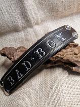 Bad Boy, LEDER Armband, geprägt, schwarz (RLA49)