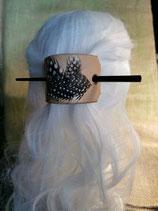 Haarschmuck, Haarspange mit Haar-Stab, mit echten Federn (HS5)
