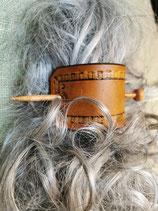 Haarschmuck, Haarspange mit Punzierung (HS8)