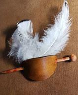 Haarschmuck, Haarspange in Braun (HS11)