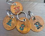 Schlüsselanhänger mit Initial nach Wunsch