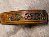 Lederarmband ,Bad Girl, geprägt (RLA48)
