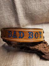 Bad Boy, LEDER Armband, geprägt, schwarz (RLA47)