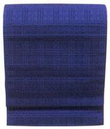 OB-133    紋織名古屋帯 (格子・ブルー)