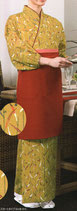 TY-6023  本手染め茶羽織 ・スカートタイプ(カラシ)