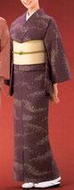 KI-1002    単衣着物 (桜横流吹き・紫)