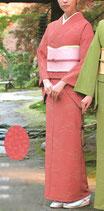 KI-1055    単衣着物 (松葉・紅梅)