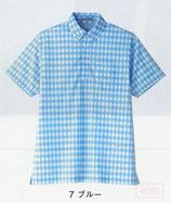 FB4523U  チェックプリントポロシャツ