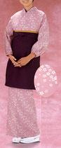 TY-6009  茶羽織・スカートタイプ 桜・薄紫