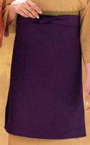 EP-8513 ロング丈エプロン  紫