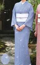 KI-1071    単衣着物 (楓とび小紋・藤色)