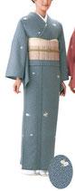 KI-1058    単衣着物 (椿・薄緑)