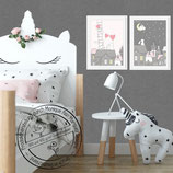 Kinder Baby Zimmer Bild er Tiere Tierbild Bilder Set