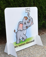 Der Babyelefant BIBI als Abstandsmaß