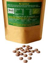 Bio Superfood Vital Mix . Sechs der beliebtesten Superfoods in einer Tablette  mit 500 mg vereint.