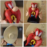 3. YOSEMITE SAM , Looney Tunes Warner Bros Bugs Bunny & Co. Figur Neu Original verpackt