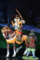 41.+18. SAMURAI GIAPPONESE - XIV SEC. SET Ritterfigur Knight / SEHR SELTEN