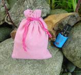 """Baumwollsäckchen """"rosa""""+ 10 ml reines BIO-Zirbenöl"""