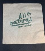 Servietten All Natural Zelltuch aus 100% Recycling, 2-lagig