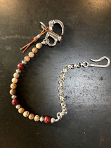 Keychain River Stone Red