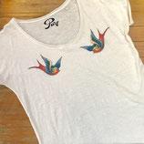 """Tee-shirt femme """"Hirondelles"""""""