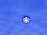 Knoop zilver bloem met kleur 15mm