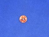 Knoop rood-oranje gevlamd 12mm