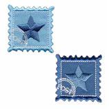 2 x Ster blauw