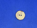 Knoop beige gevlekt 20mm