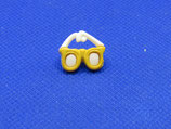 Knoop zonnebril geel