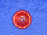 Knoop helder rood schotel vorm 35mm