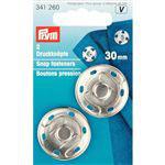 Aannaai drukkers zilver 30 mm