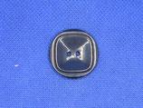 Knoop midden blauw vierkant