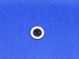 Knoop zwart met witte rand 15mm