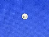 Knoop wit met goud 10mm