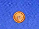 Houten knoop rood-bruin 28mm