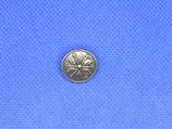 Metalen knoop Noors zilver 15mm