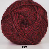 Hjerte Alpaca col.821 rood-bruin