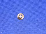 Knoop beige-bruin gevlekt 11mm