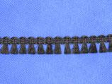 Franje band zwart 15mm ( band breedte totaal)