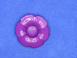 knoop bloem paars 27mm