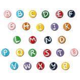 Letter knopen 15 mm