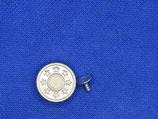 Slag/Jeans knoop zilver 20mm