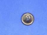 Knoop midden bruin glans 22mm